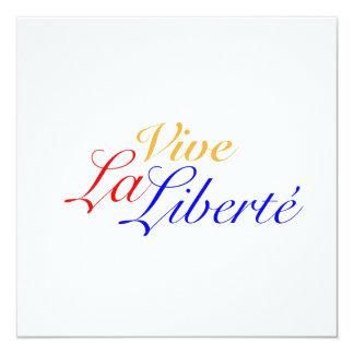 Vive La Liberté - Long Live Freedom - French Card