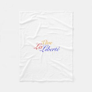 Vive La Liberté - Long Live Freedom - French Fleece Blanket