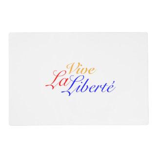 Vive La Liberté - Long Live Freedom - French Placemat