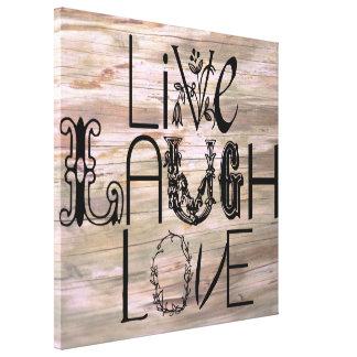 Vive la lona de madera rústica de la pared de la m impresión en lona estirada