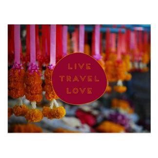 Vive la POSTAL del amor del viaje