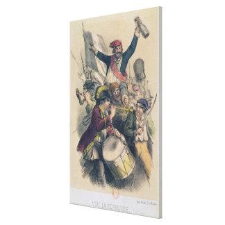 Vive la Republique, 1848 Gallery Wrap Canvas
