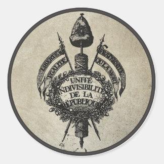 Vive la Revolution Classic Round Sticker