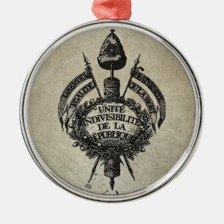 Vive la Revolution Metal Ornament