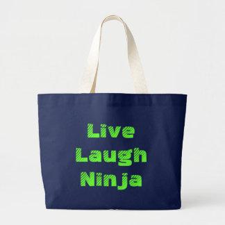 Vive la risa Ninja Bolsa Tela Grande