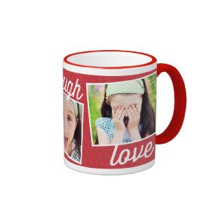 Vive la taza de encargo de la foto del amor de la