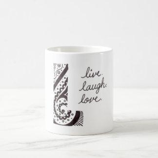 Vive la taza del amor de la risa