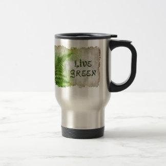 VIVE la taza VERDE del viaje de Eco Enviro para el