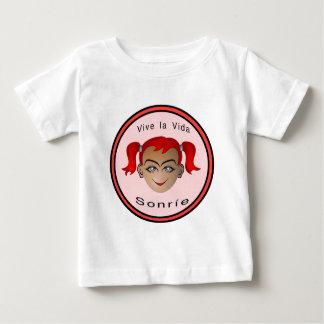 Vive la vida Sonrie Niña Baby T-Shirt