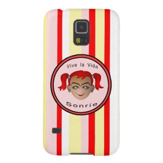 Vive La Vida Sonrie Niña Case For Galaxy S5