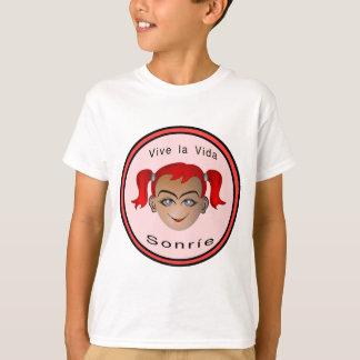Vive la vida Sonrie Niña T-Shirt