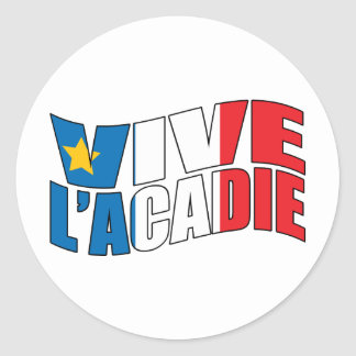 Vive l'acadie classic round sticker