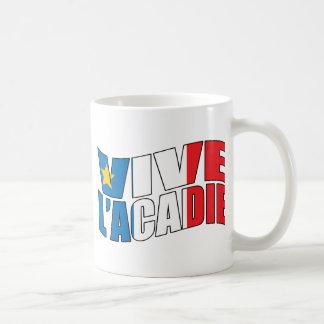 Vive l'acadie classic white coffee mug