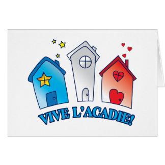 """Vive L'acadie """" Maison"""" Cards"""