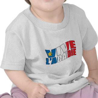 Vive l'acadie tee shirt