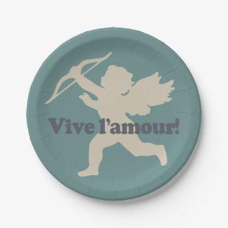 Vive L'amour Cupid paper plates