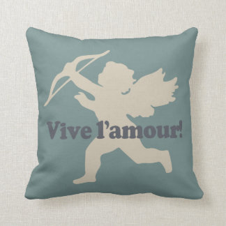 Vive L'amour Cupid throw pillow