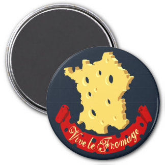 Vive le Fromage 3 Inch Round Magnet