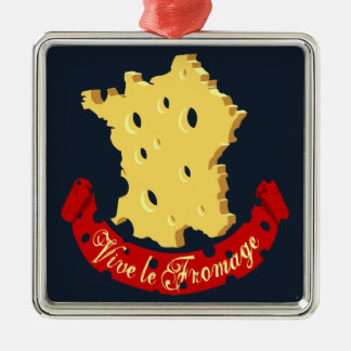 Vive le Fromage Metal Ornament