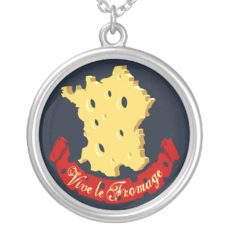 Vive le Fromage Round Pendant Necklace
