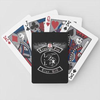 Vive libremente la cubierta viva del póker del baraja de cartas bicycle