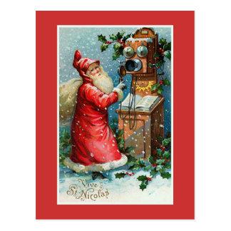 """""""Vive navidad del francés del vintage del St. Tarjetas Postales"""