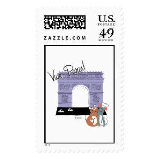 Vive Paris! Arc De Triomphe Disney Postage Stamp