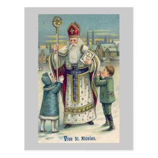 """Vive St. Nicolas"" Vintage French Postcard"