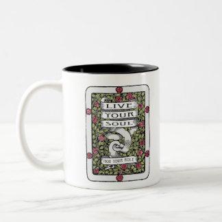 Vive su alma, no su papel taza de café