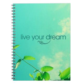 Vive su sueño. Cielo vibrante Libros De Apuntes