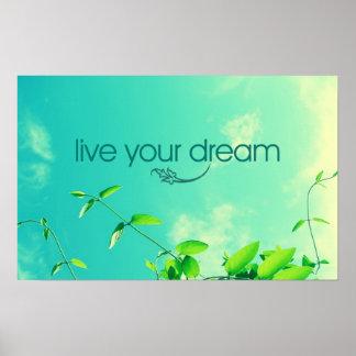 Vive su sueño. Cielo vibrante Posters