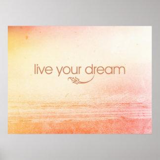 Vive su sueño póster