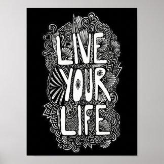 Vive su vida póster