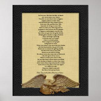 Vive su vida, principal águila del oro de TECUMSEH Poster