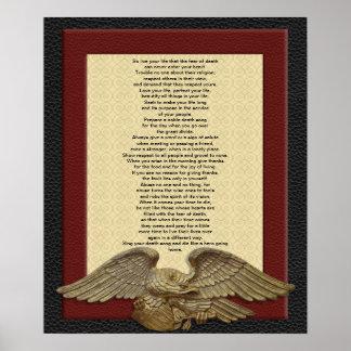 Vive su vida principal águila del oro de TECUMSEH Posters