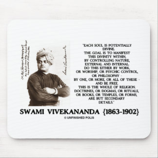 Vivekananda Each Soul Potentially Divine Be Free Mouse Pad