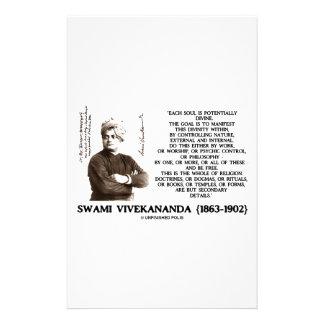 Vivekananda Each Soul Potentially Divine Be Free Customized Stationery