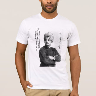 Vivekananda famous signed photo 1893 on shirt