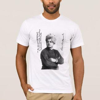 Vivekananda famous signed photo 1893 on shirt