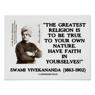Vivekananda Greatest Religion To Be True Your Own Poster