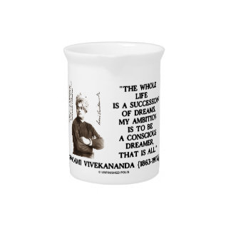 Vivekananda Whole Life Succession Dreams Ambition Drink Pitchers