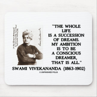 Vivekananda Whole Life Succession Dreams Ambition Mouse Pad