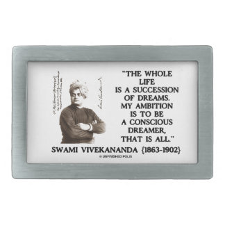 Vivekananda Whole Life Succession Dreams Ambition Rectangular Belt Buckle