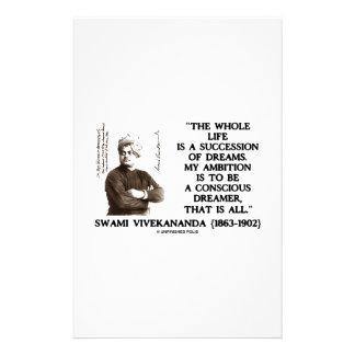 Vivekananda Whole Life Succession Dreams Ambition Stationery