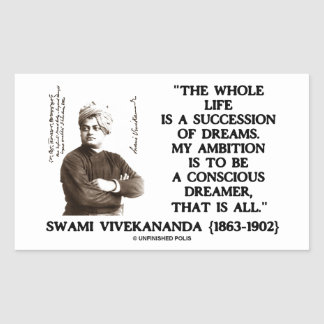 Vivekananda Whole Life Succession Dreams Ambition Stickers