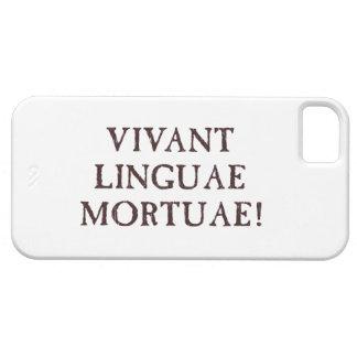 Viven de largo las idiomas muertas - latín iPhone 5 Case-Mate fundas