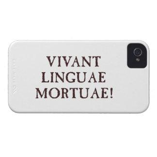 Viven de largo las idiomas muertas - latín Case-Mate iPhone 4 cárcasas