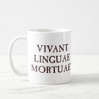 Viven de largo las idiomas muertas - latín taza