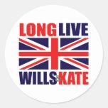 Viven de largo las voluntades y Kate Etiquetas Redondas