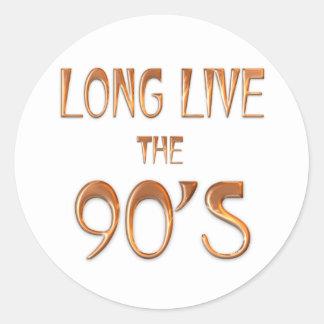 Viven de largo los años 90 pegatina redonda